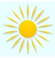 Sun icon graphic design vector image