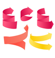 Paper style navigation arrows vector image