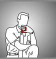 businessman drinking coffee after work vector image
