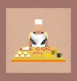 flat shading style icon school cook vector image