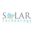 globe solar technology logo vector image