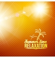 Sanset on the beach abstraction vector image vector image