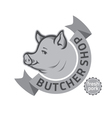 butcher shop logo vector image