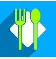 Nutrition Flat Square Icon with Long Shadow vector image