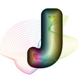 Abstract colorful Letter J vector image