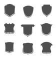 collection of blank shields templstes vector image
