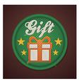 gift fabric badge vector image
