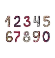 hand drawn ornamental numbers vector image