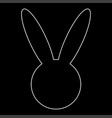 hare or rabbit head the white path icon vector image
