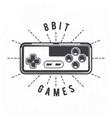 Retro 8 Bit Video Game Joystick vector image