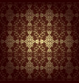 seamless floral baroque background brown vector image