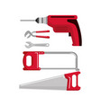 set building construction and home repair tools vector image
