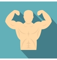 Strong athletic man icon flat style vector image
