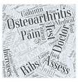 Brief History of Osteoarthritis and Back Pain Word vector image