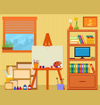 home art studio with easel and painting tools vector image