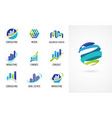 marketing finance sales and business logos vector image vector image