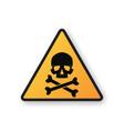 danger sign with skull symbol vector image