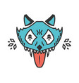 mad wolf cartoon animal isolated on white vector image