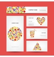 Business cards design fruit collection vector image vector image