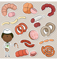 Sausages Store Seller vector image