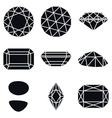 Gemstone Shapes Icons vector image