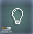 Light bulb icon symbol on the blue-green abstract vector image