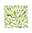 Green footprint background for your design vector image