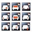 Car care centre symbolics vector image