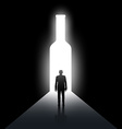 Alcoholism Stock vector image
