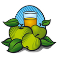 aplle juice vector image