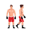 boxer man sportsman games flat vector image