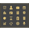 Business and financial icon set vector image