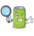 detective soft drink character cartoon vector image