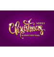 golden text on purple background vector image
