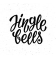 jingle bells calligraphic lettering text vector image