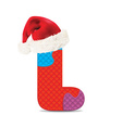 Letter L written with alphabet puzzle vector image