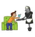 Maid Robot cartoon vector image