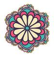 mandala flower design vector image