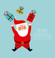 merry christmas and happy new year funny santa vector image