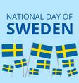 National day of sweden vector image