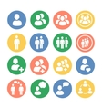 People and social colored icon set vector image