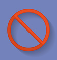 Prohibition sign flat icon vector image
