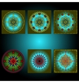 Set of multicolored shapes vector image