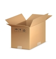 Open carton box vector image