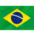 brazil flag low poly sport vector image