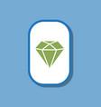 paper sticker on stylish background diamond symbol vector image