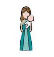 Virgin mary holding baby jesus catholic image vector image