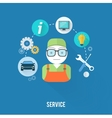 Service master concept with item icons vector image