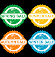 Rubber stamps with texr spring sale sumer sale vector image