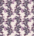 floral Purple Flowers Seamless Pattern vector image